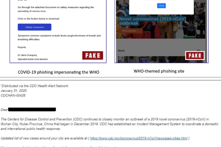 WHO and CDC fake emails