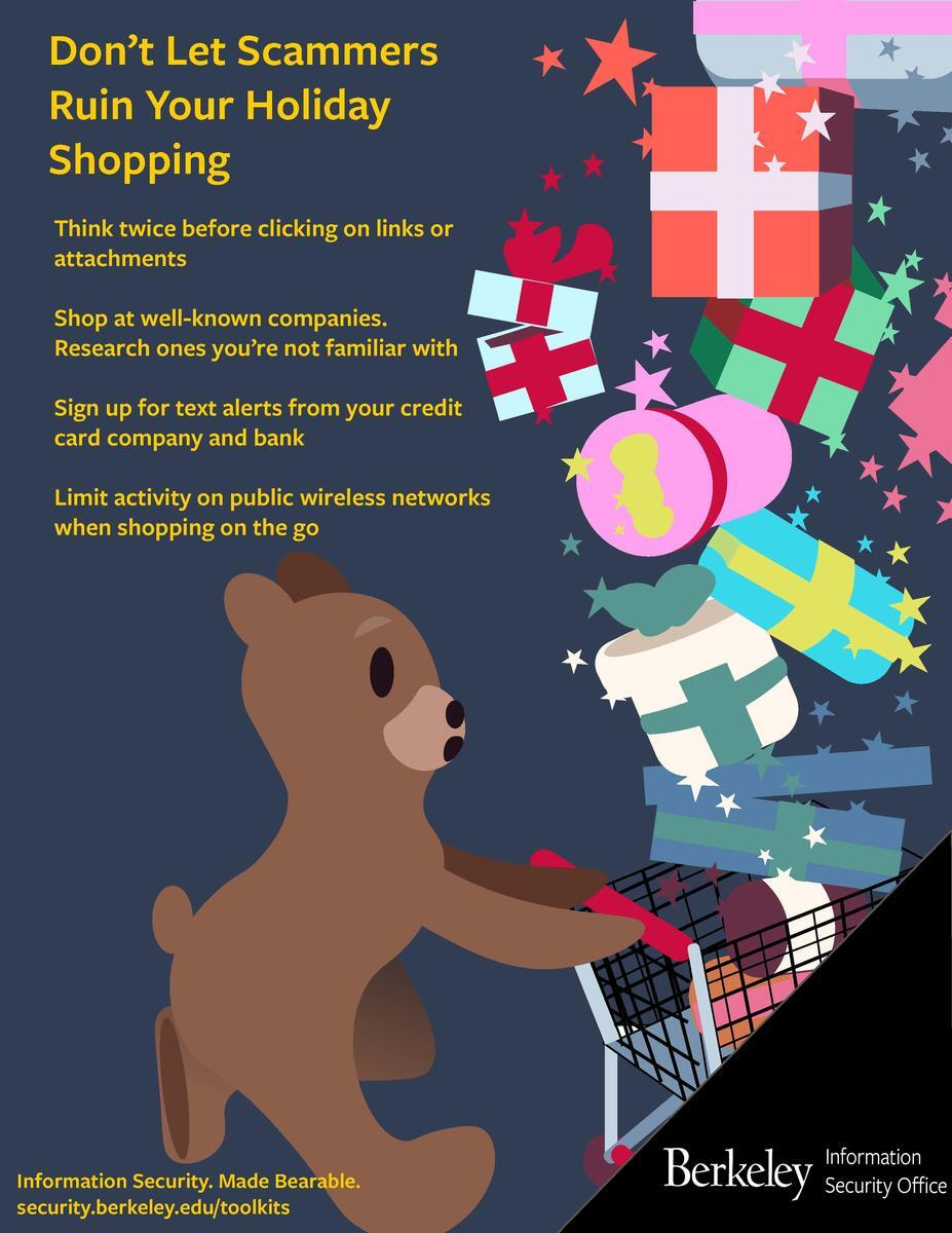 Shopping Bear Poster
