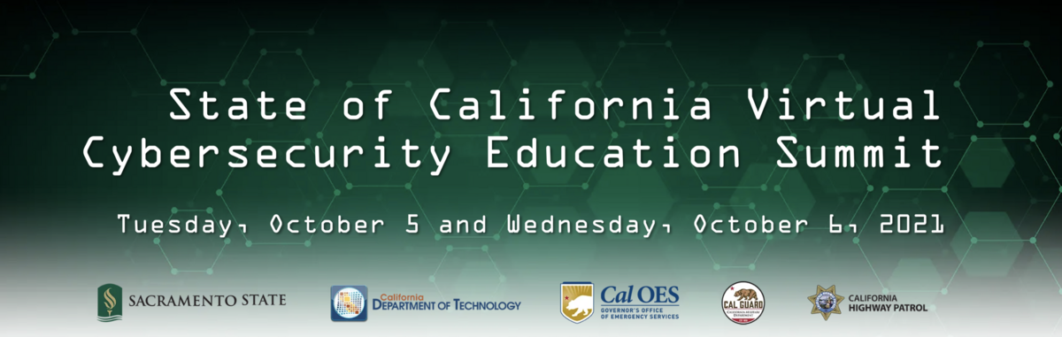 state of california virtual cybersecurity education summit banner