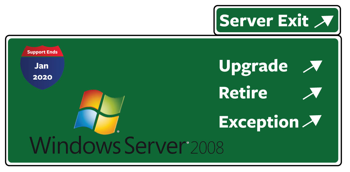 Windows Server 2008 Exit sign