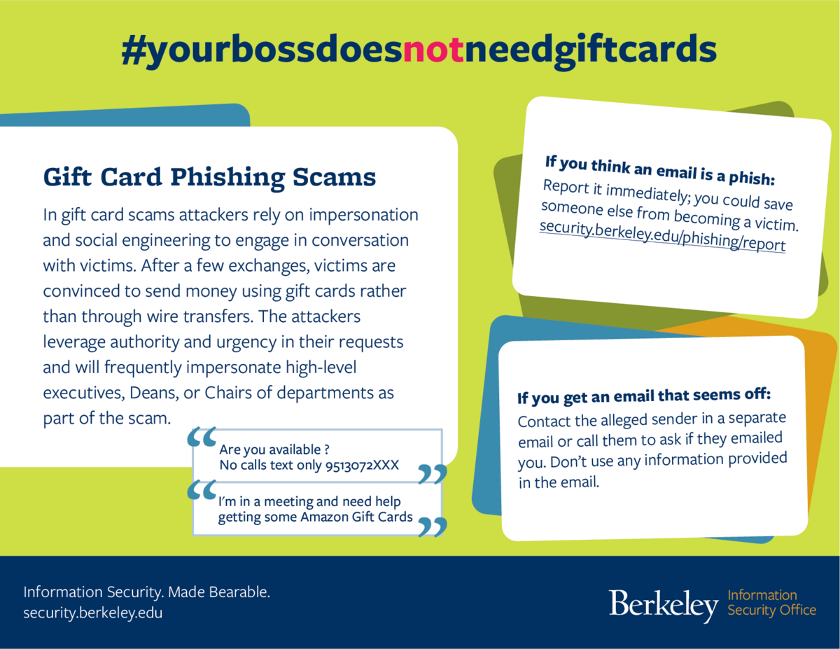 gift card scams flyer