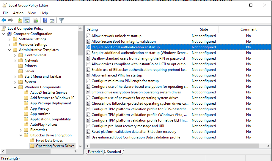 Group Policy TPM