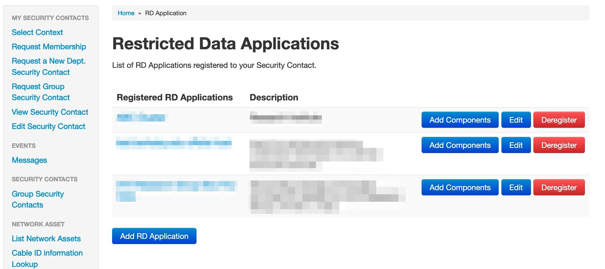 Restricted Data Apps