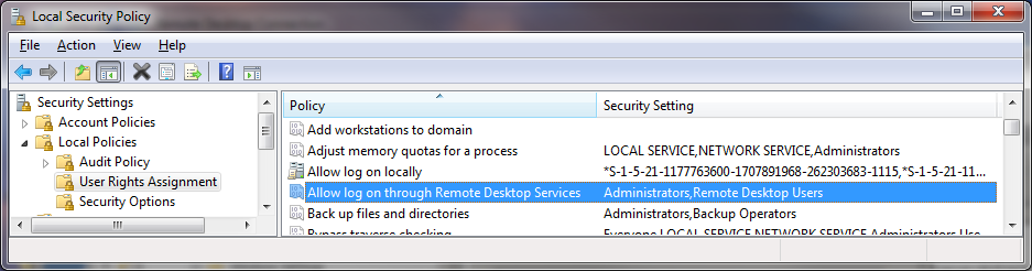 Limit Users Who Can Log In Using Remote Desktop
