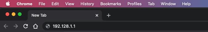 screen shot of address bar