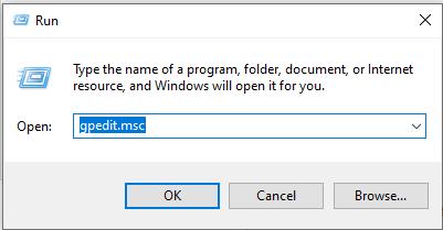 Windows run gpedit